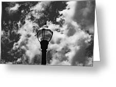 Lamp In The Clouds Greeting Card