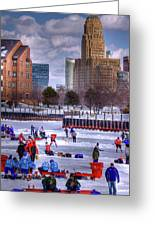 Labatt Pond Hockey 2011 Greeting Card by Don Nieman