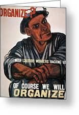 Labor Poster, 1930s Greeting Card