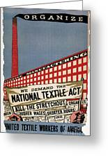 Labor Poster, 1935 Greeting Card