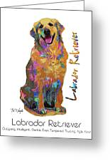 Labrador Retriever Pop Art Greeting Card