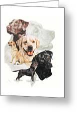 Labrador Retriever W/ghost Greeting Card