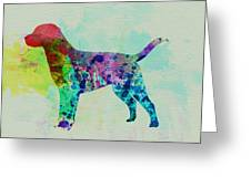 Labrador Retriever Watercolor Greeting Card by Naxart Studio