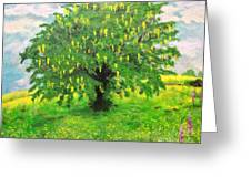 Laburnum Tree In Splendid Isolation Greeting Card