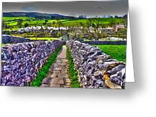 Labyrinth Of Grassington Greeting Card