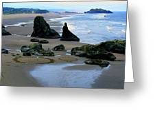 Labyrinths At Bandon Beach Greeting Card