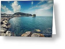 Lacco Ameno Harbour ,  Ischia Island Greeting Card