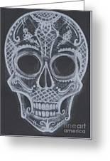 Lace Sugar Skull Greeting Card