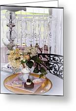 Lacey Curtain And Pastry Greeting Card