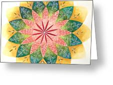 Lacey Petals Mandala Greeting Card by Andrea Thompson