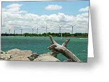 Lackawanna Wind Farm 5079 Greeting Card