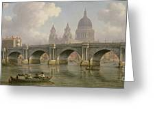 Blackfriars Bridge And St Paul's Cathedral Greeting Card