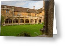 Lacock Abbey Cloisters 1 Greeting Card