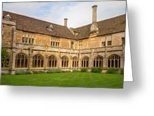 Lacock Abbey Cloisters 2 Greeting Card