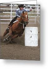 Ladies' Barrel Racing Greeting Card