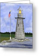 Ladies Delight Lighthouse Maine Greeting Card
