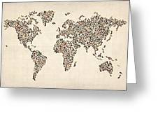 Ladies Shoes Map Of The World Map Greeting Card