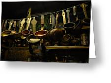 Ladles Of Tibet Greeting Card by Donna Caplinger