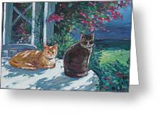 Lady And Lucy Greeting Card