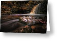 Lady Falls Waterfall Country Greeting Card