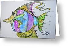 Lady Fish  Greeting Card