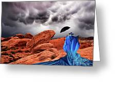 Lady In Blue Nevada Greeting Card