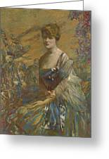 Lady In Blue Greeting Card