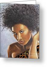 Lady In Leopard Greeting Card