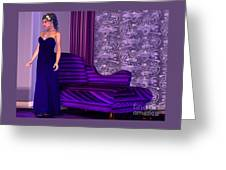 Lady In Lilac Room Greeting Card