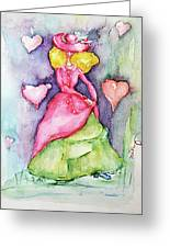 Lady In Love Greeting Card