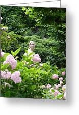Lady In Salzburg Garden Greeting Card