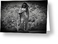Lady In The Garden 2 Greeting Card