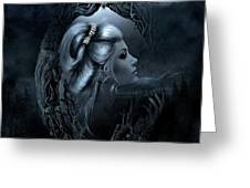 Lady In The Mirror Greeting Card