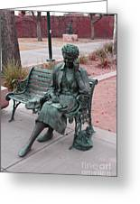 Lady In The Park Greeting Card