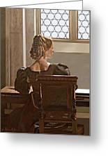 Lady Near The Window Greeting Card