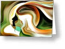 Lady Of Color Greeting Card