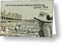 Lady Of The Derby Quote Greeting Card