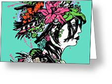 Lady Of The Garden Greeting Card