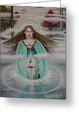 Lady Of The Lake II Greeting Card