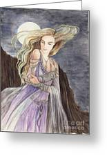 Lady Of The Moon Greeting Card