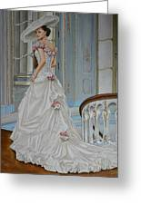 Lady On The Staircase Greeting Card