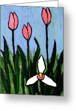 Lady Slipper And Court Greeting Card