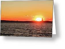 Lady Sunset Greeting Card