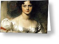 Lady Greeting Card