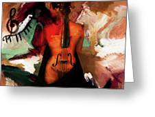 Lady Violin 01 Greeting Card