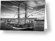 Lady Washington In Black And White Greeting Card