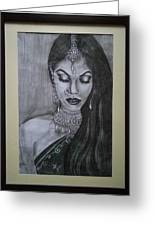 Lady With Bridal Jewelry Greeting Card