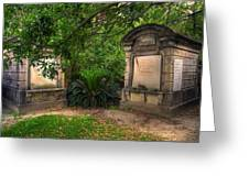 Lafayette Crypts 1 Greeting Card