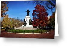 Lafayette Park In Autumn Greeting Card