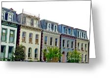 Lafayette Square Painted Ladies Greeting Card
